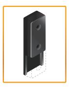 подвижный резиновый упорный бампер HDSystem