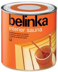 Belinka Interier Sauna (Белинка Интерьер Сауна - защитное средство для древесины)